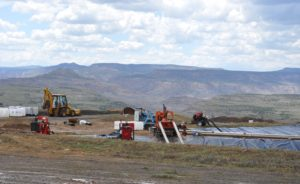 Oil and Gas produced water waste pit, Whitewater, Mesa County